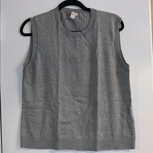 J Crew Cotton Shell Size L Grey